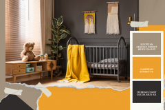Yellow Interior Design Moodboard Photo Collage
